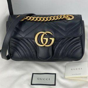 Gucci GG Marmont quilted Mini Handbag 446744 black